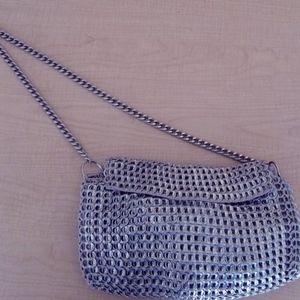 Dalaleo Metallic Knitted Crossbody Bag!